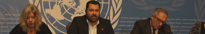 Greece. Press conference with Dr Lefteris Kretsos Secretary General of Media and Communication, Hellenic Republic