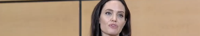 UN. Angelina Jolie talk at Palais des Nations, Geneva (video)