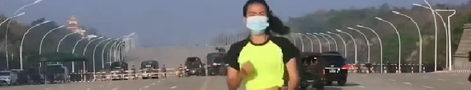 Une prof de fitness filme par mégarde le coup d'État en Birmanie
